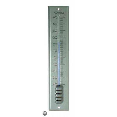 Hendrik jan thermometer aluminium zilver 30cm