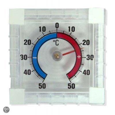 Hendrik jan thermometer zelfklevend vierkant