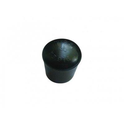 Pootdop peervorm 22mm zwart