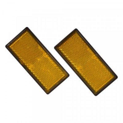 Carpoint reflector oranje 89x40mm 2 Stuks