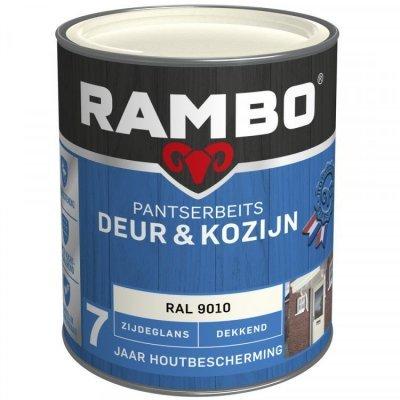 Rambo Deur en Kozijn pantserbeits zijdeglans dekkend RAL 9010 750ml