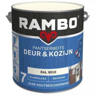 Rambo Deur en Kozijn pantserbeits zijdeglans dekkend RAL 9010 2500ml
