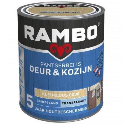 Rambo Deur en Kozijn pantserbeits zijdeglans transparant kleurloos 0000 750ml