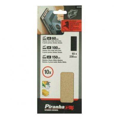 Piranha schuurstrokenset 187x93 mm 5 stuks X31597
