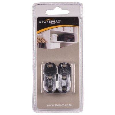 Storemax garderobestangdrager chroom 2 stuks